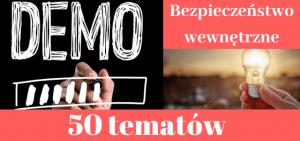 50 przykładowych tematów prac dyplomowych z bezpieczeństwa wewnętrznego