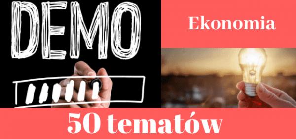 50 przykładowych tematów prac dyplomowych z ekonomii