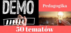 50 przykładowych tematów prac dyplomowych z pedagogiki