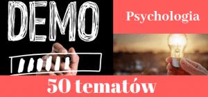 50 przykładowych tematów prac dyplomowych z psychologii