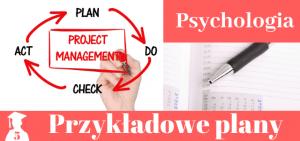 Plany prac licencjackich i magisterskich z psychologii