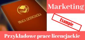 Przykładowe prace licencjackie > Marketing
