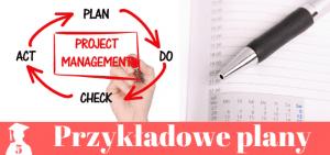 Przykładowe plany prac