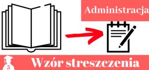 Przykładowe streszczenie pracy licencjackiej i magisterskiej z administracji